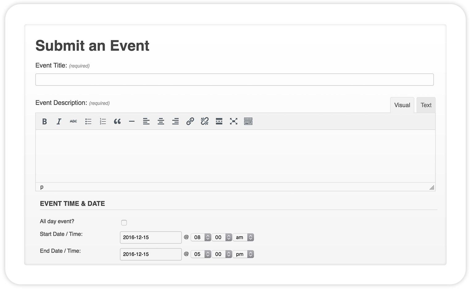 The Events Calendar