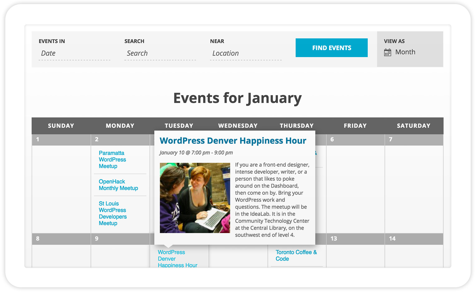 The Events Calendar WordPress Plugin
