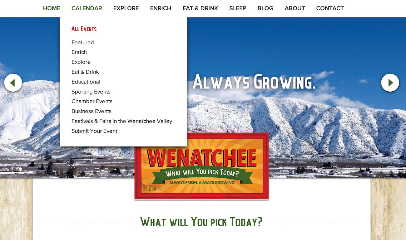 showcase - Wenatchee - home page