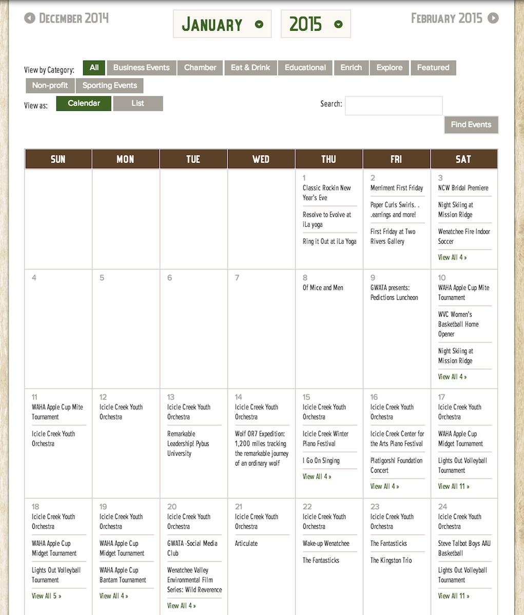 showcase - Wenatchee - month view full