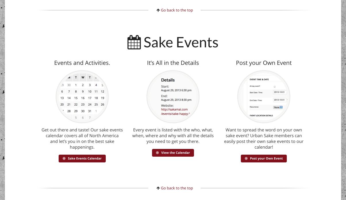 sake events member portal