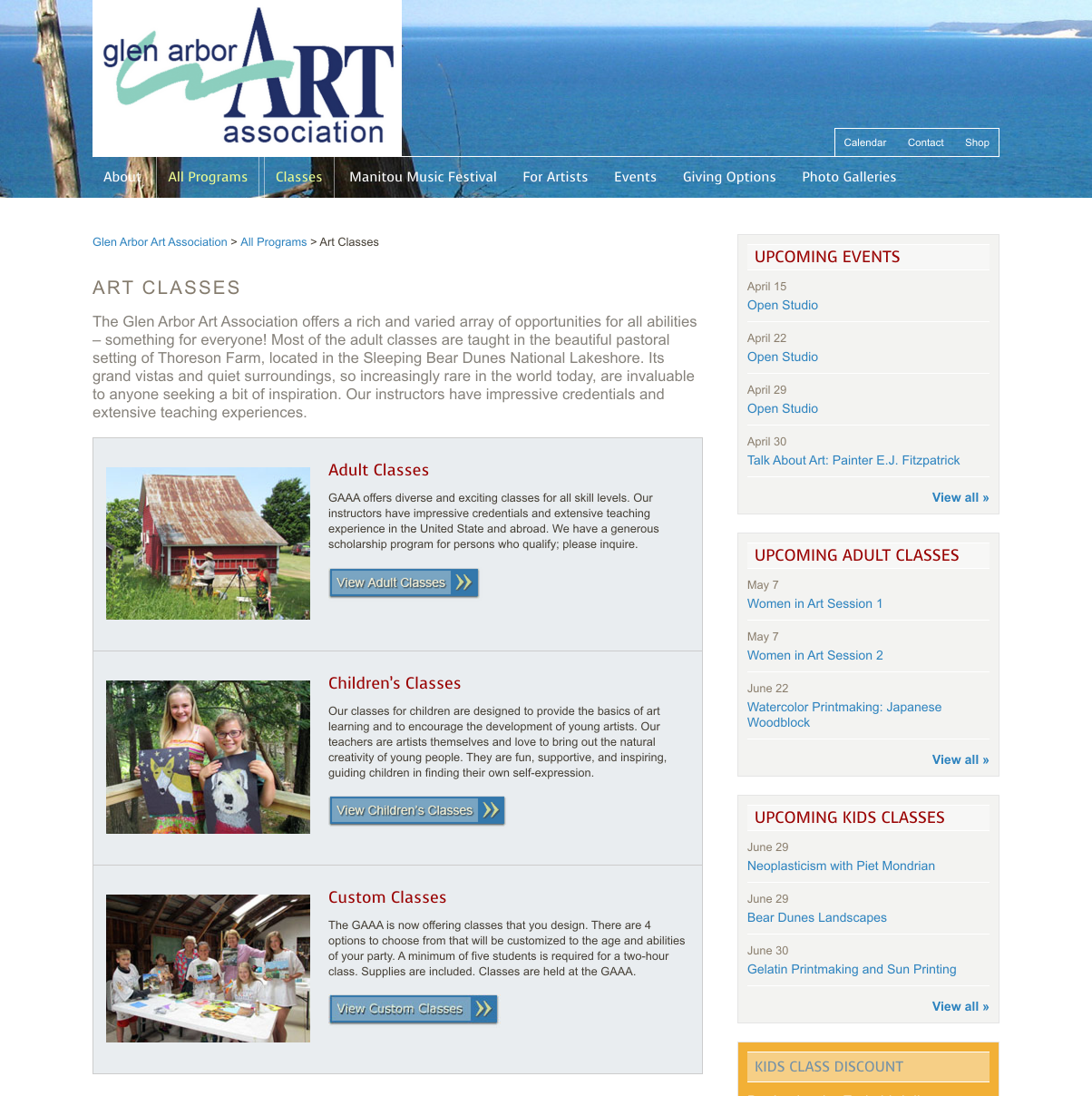 showcase - glenarbor- art classes landing