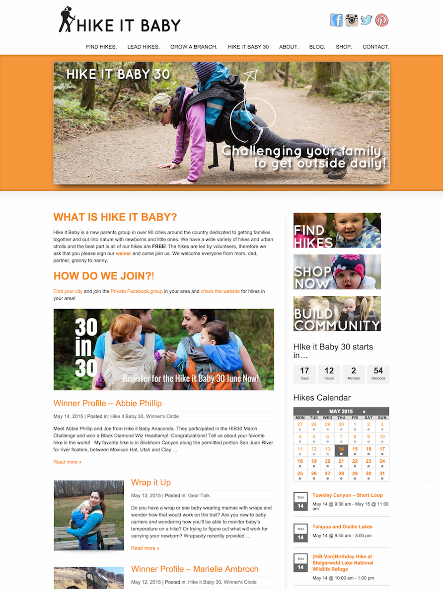 showcase - hikeitbaby - home page