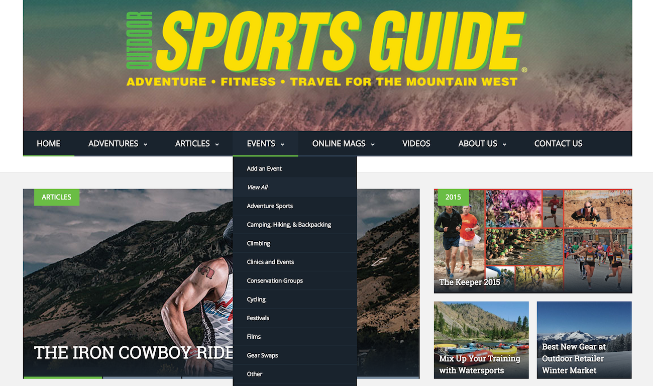 showcase - sportsguidemag - home - menu