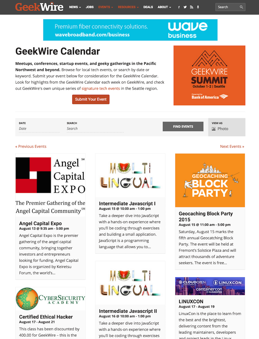 showcase - geekwire - photo view