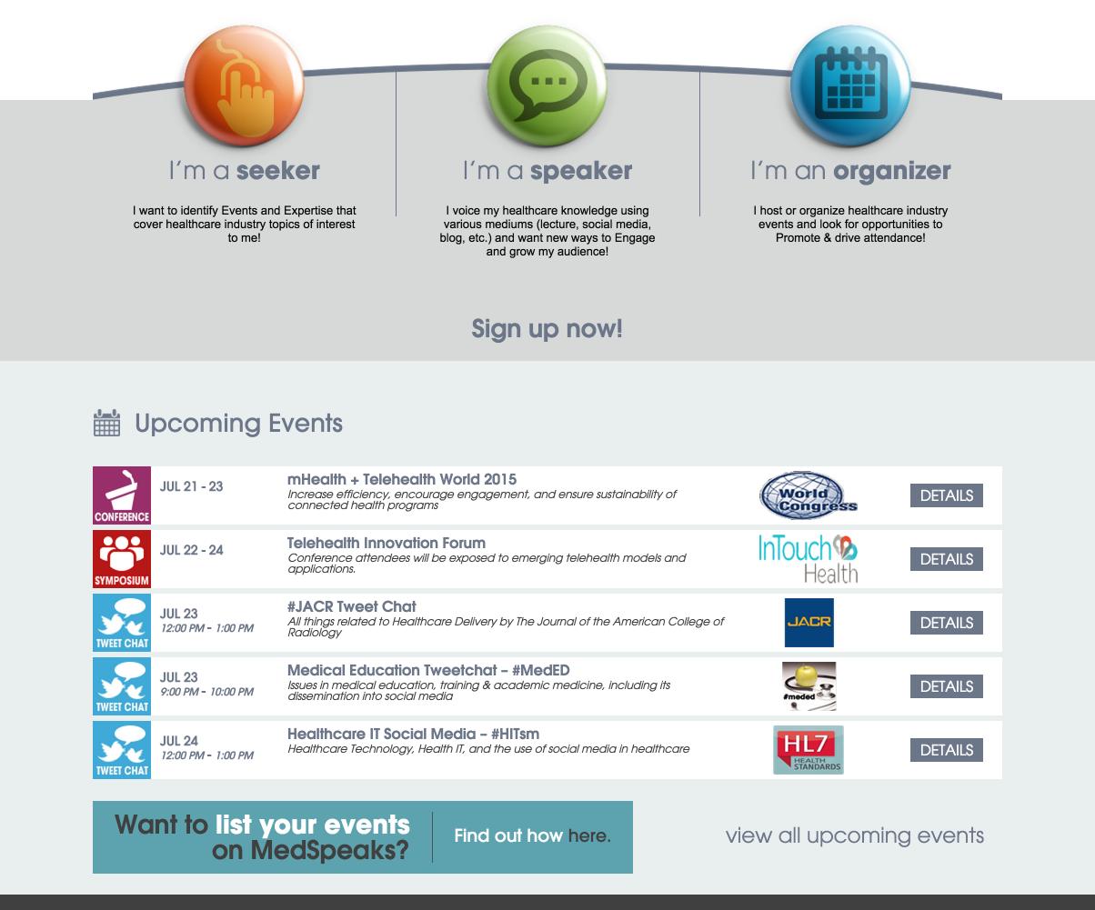 showcase - medspeaks - home page widget