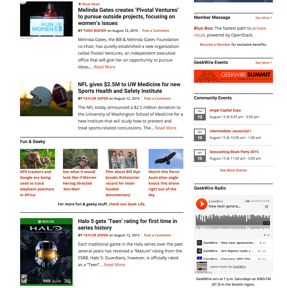 showcase - geekwire - homepage