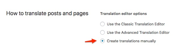 Create Translations Manually