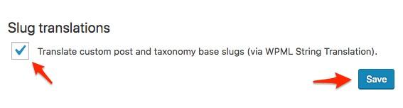 Translate custom post and taxonomy base slugs