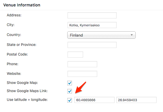 "please ensure that the ""use latitude +longitude"" boxis checked"