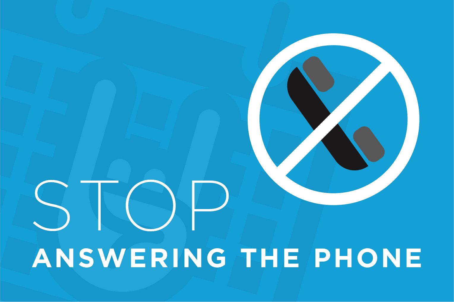 Productivity Advice: Increase Productivity by not answering the phone