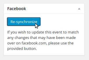 Showing the Re-Synchronize button (provided in the event editor)