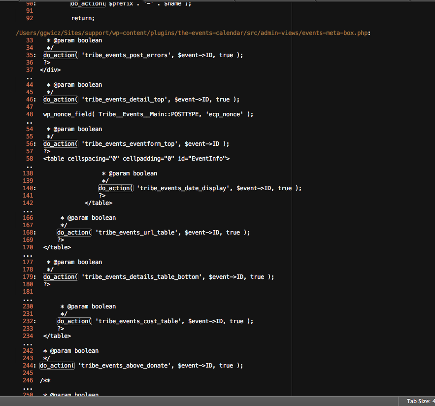 A Search Results Page in Sublime Text