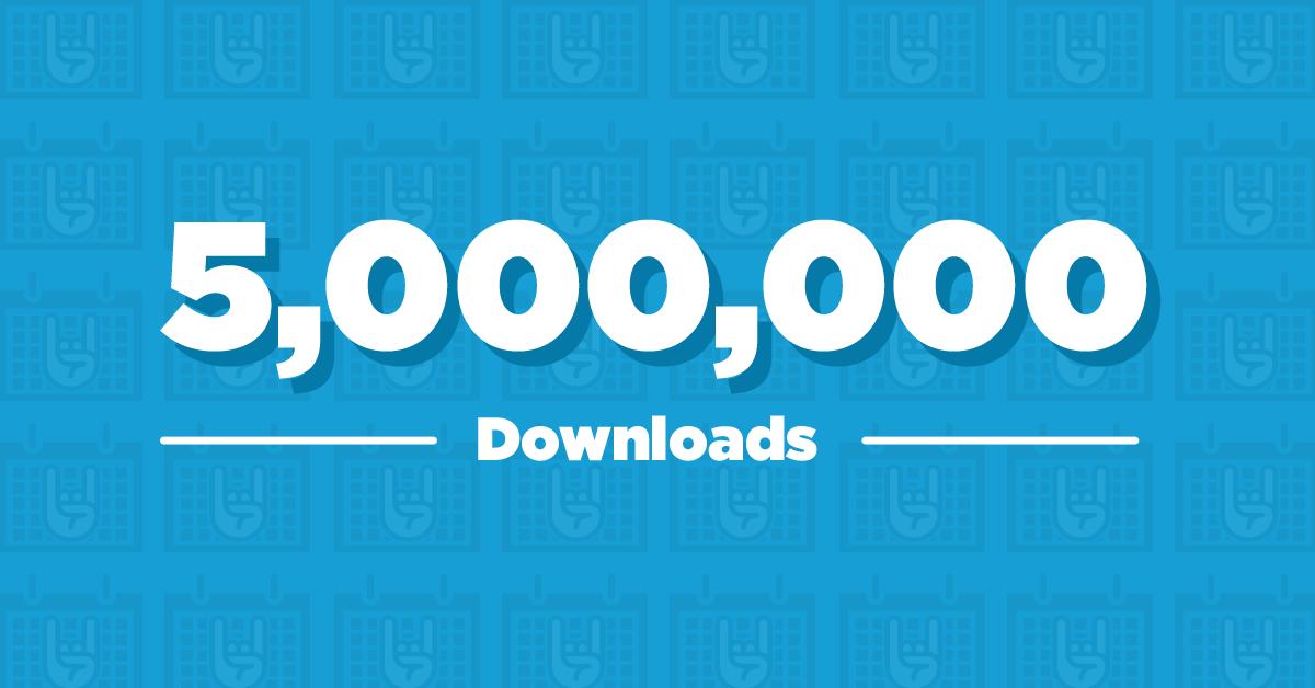 The Events Calendar celebrates 5 million downloads