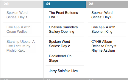 "The ""Jerry Seinfeld Live"" Event is Not Featured"