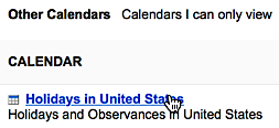 Link to edit settings for public calendars added to Google Calendar