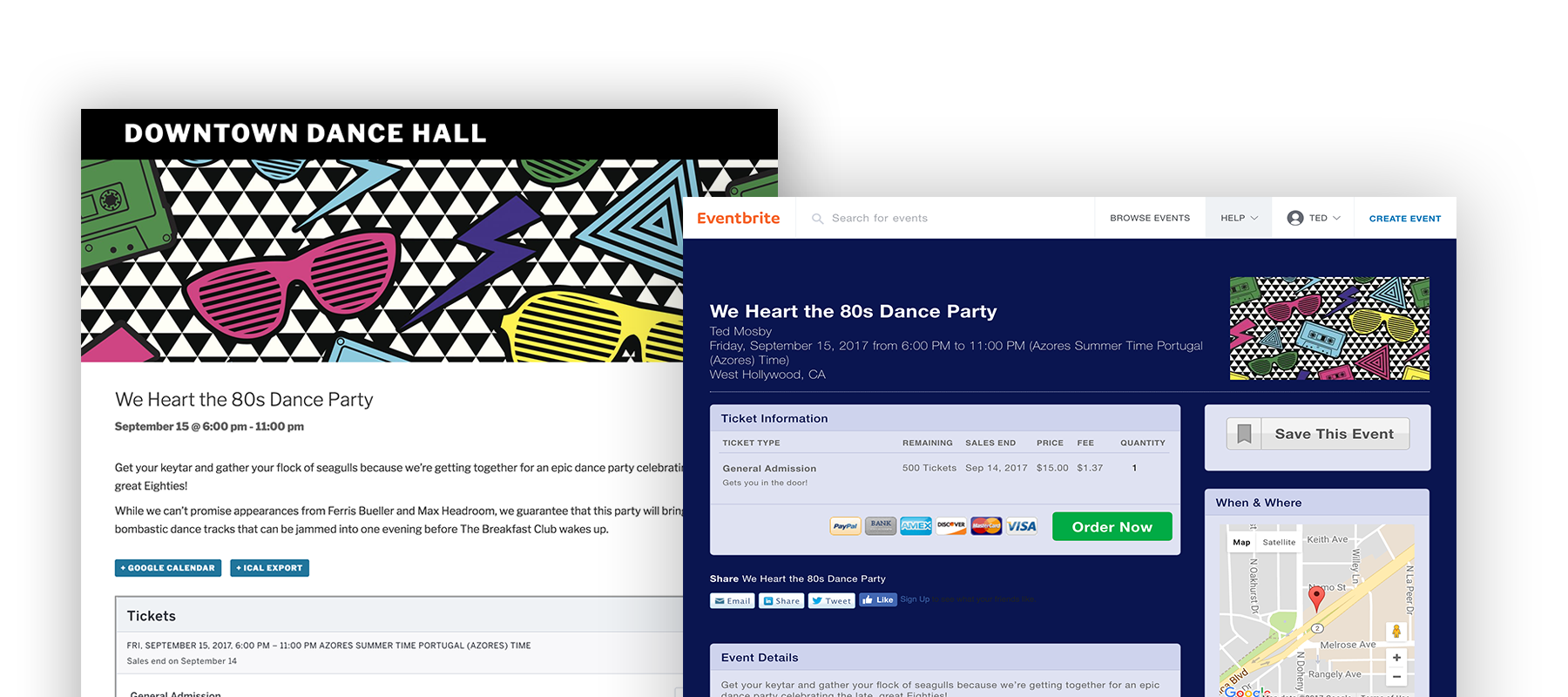 our eventbrite tickets and the events calendar plugins for wordpress make it easy to create events on your own self hosted site and instantly publish them