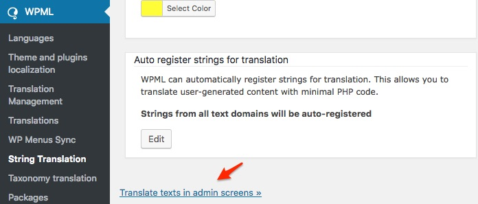 "Settings in WPML String Translation to help with Filter Bar. See ""Translate texts in admin screens » """