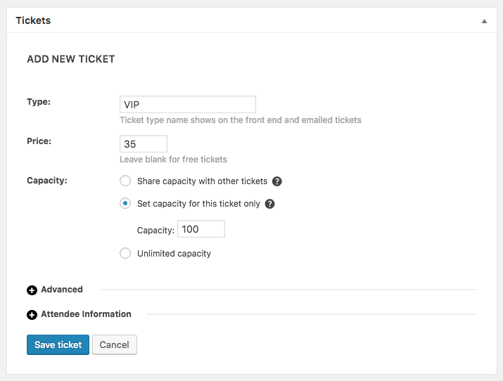 Add New Ticket fields