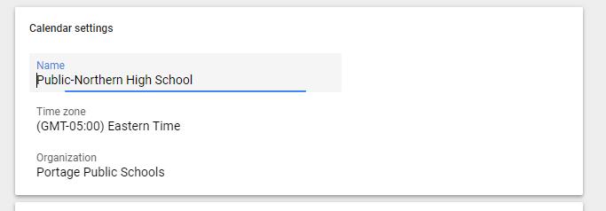 how to set time zone google calendar