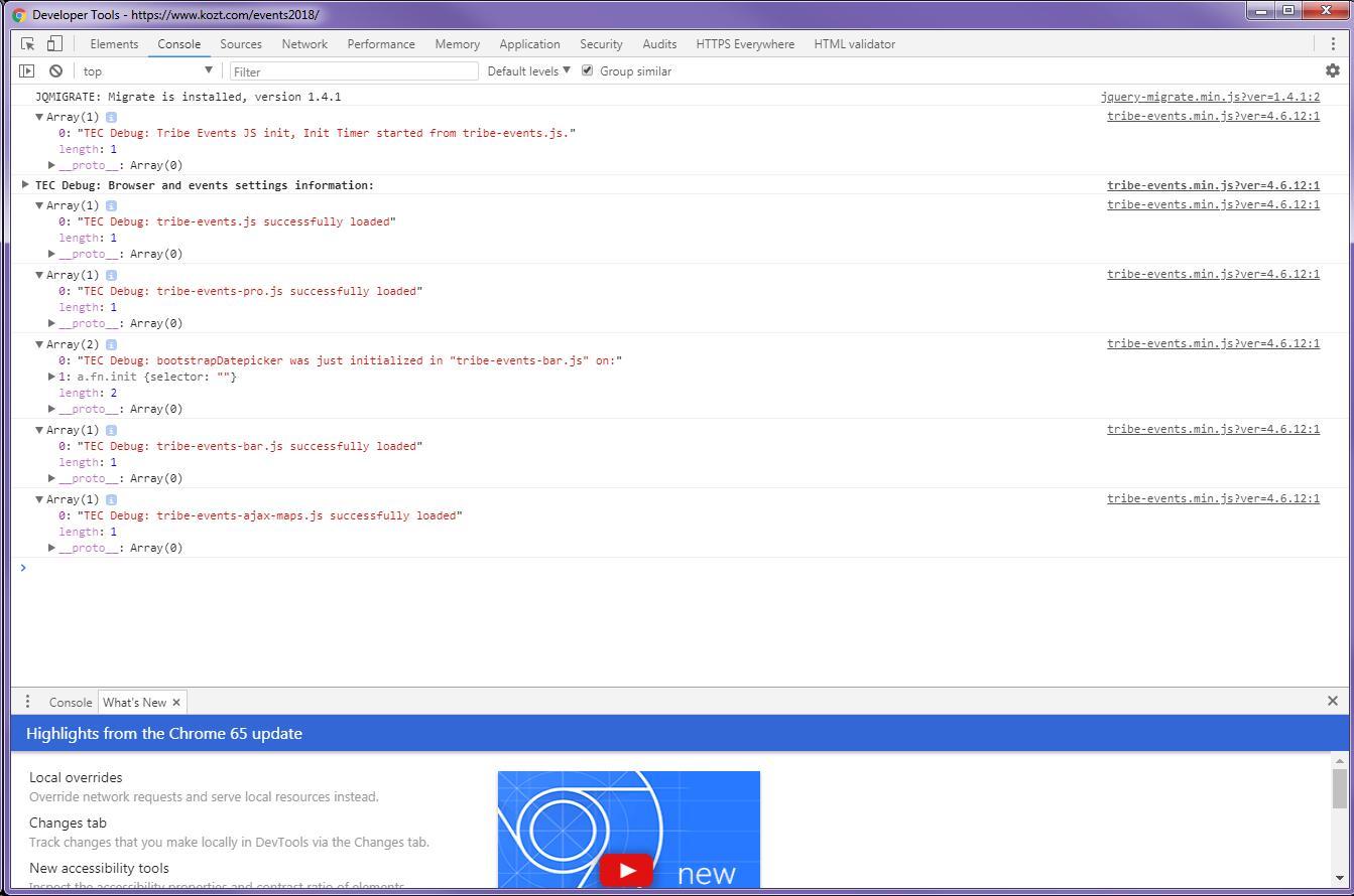 Event Calendar Js : My calendar page is truncated and broken . the events calendar