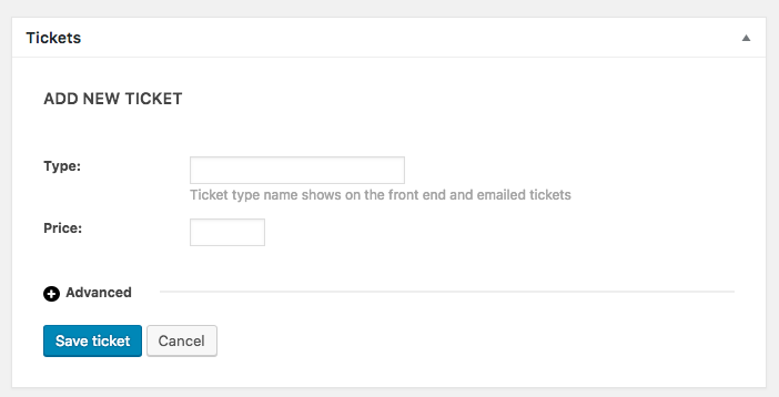 create ticket issues no capacity no max number then saves the