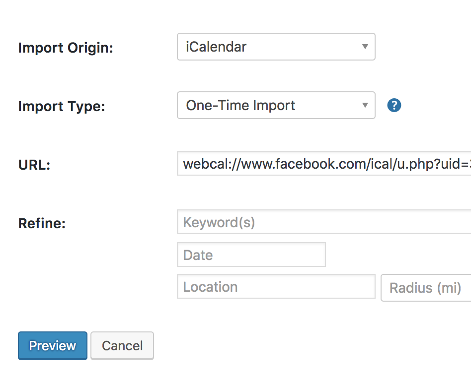 How to Import Facebook Events into Event Aggregator