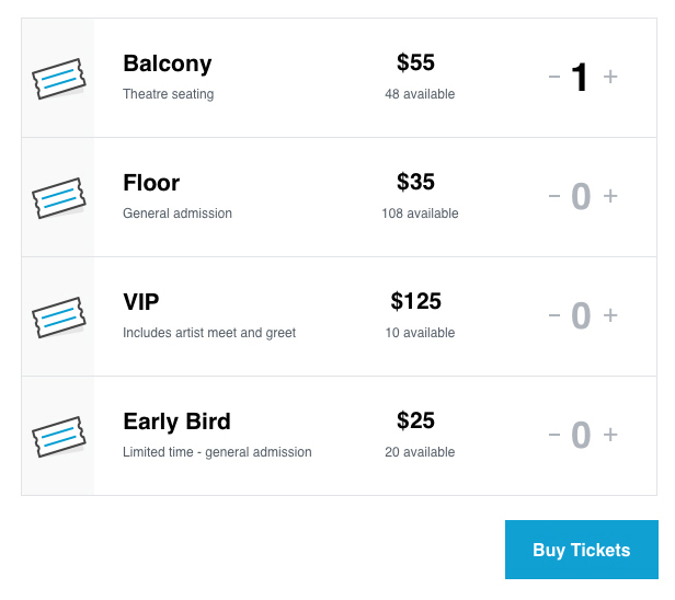 Gutenberg Ticket Block Frontend Attendee View