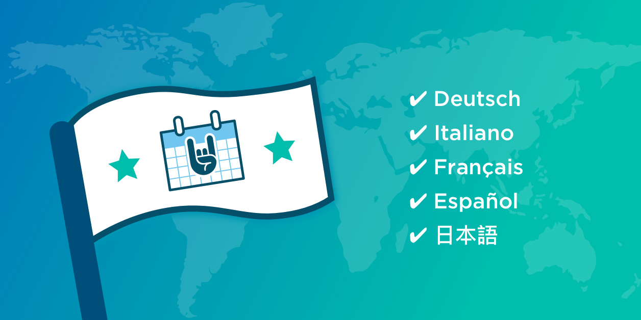 100% complete translations for top five languages